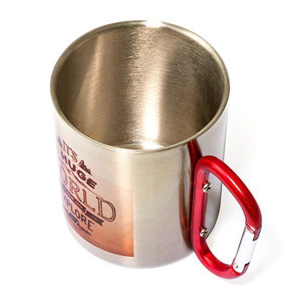 comprar taza-acero-personalizada-mosqueton personalizado